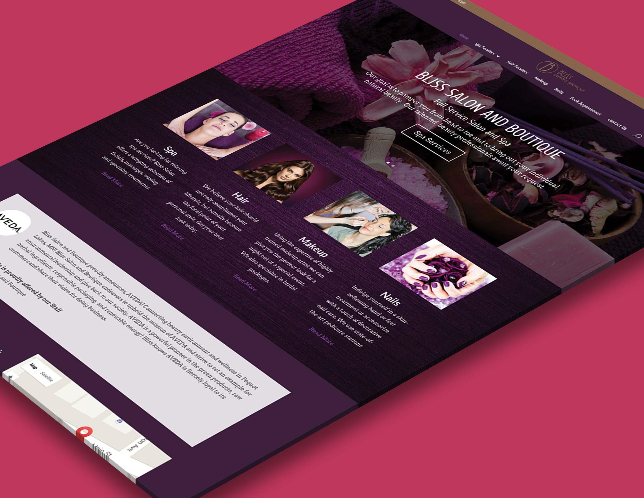 Bliss Salon and Boutique - Salon Website
