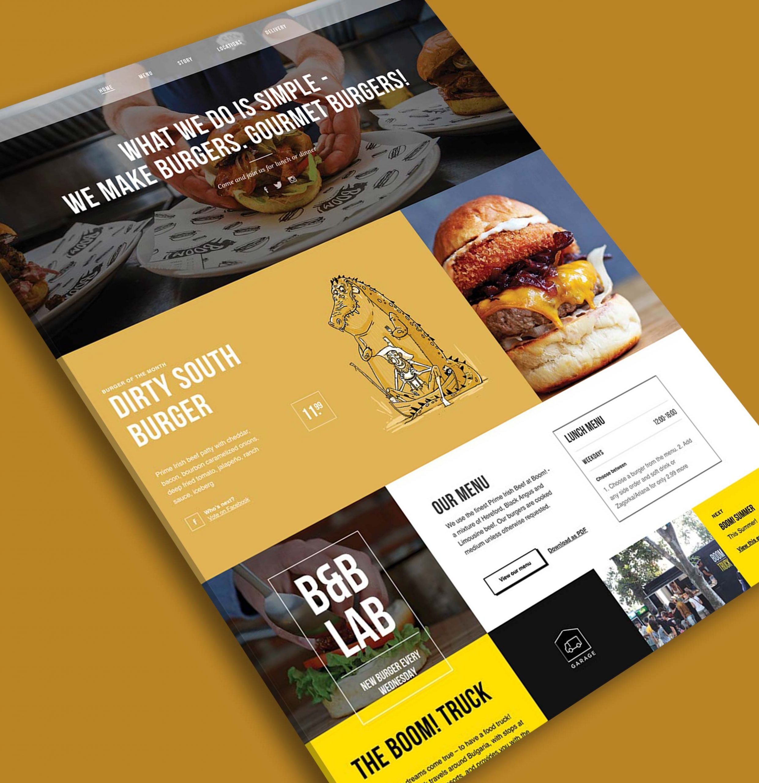 Boom Burger - Restaurant Website