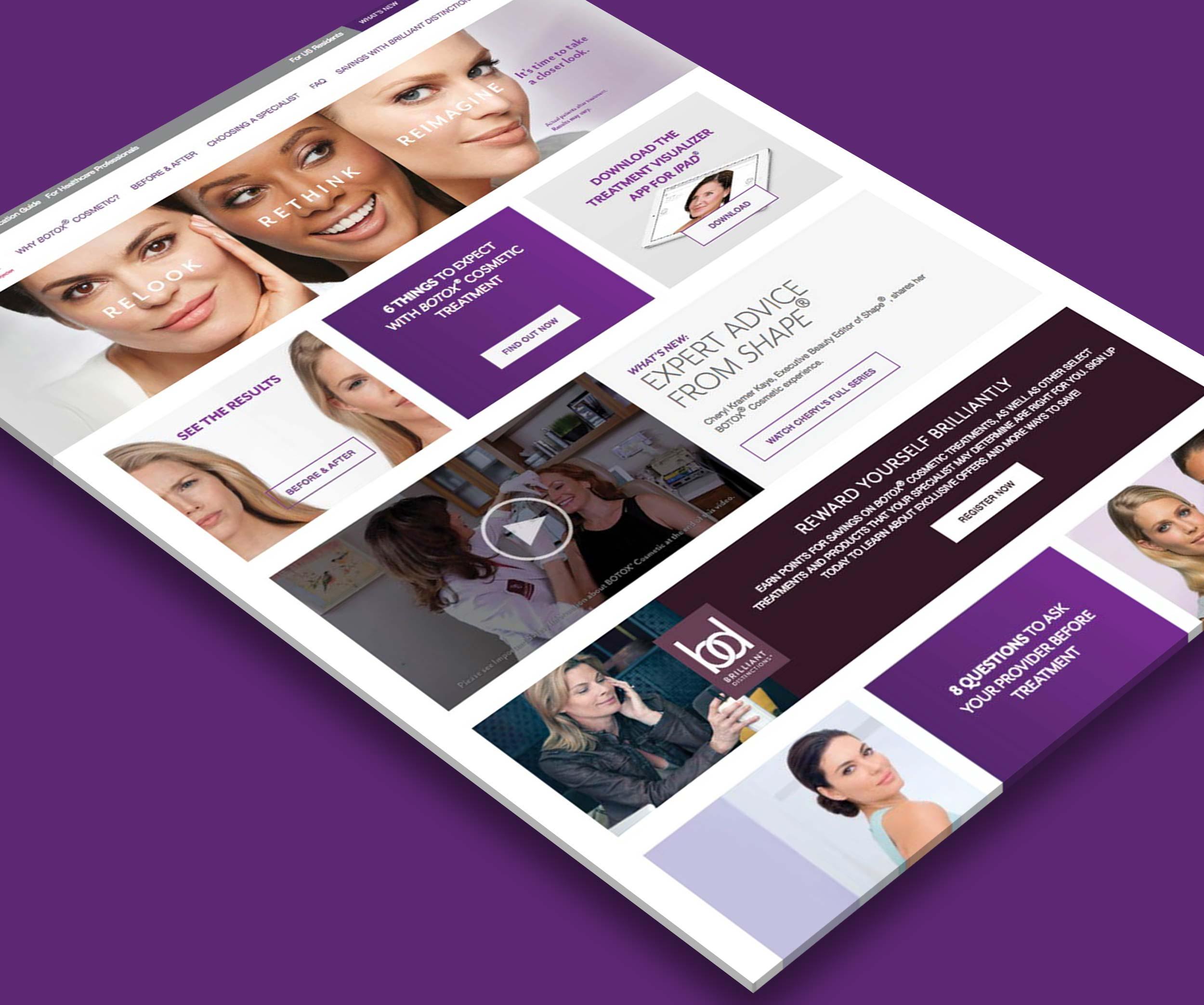 Botox - Pharmaceutical Website