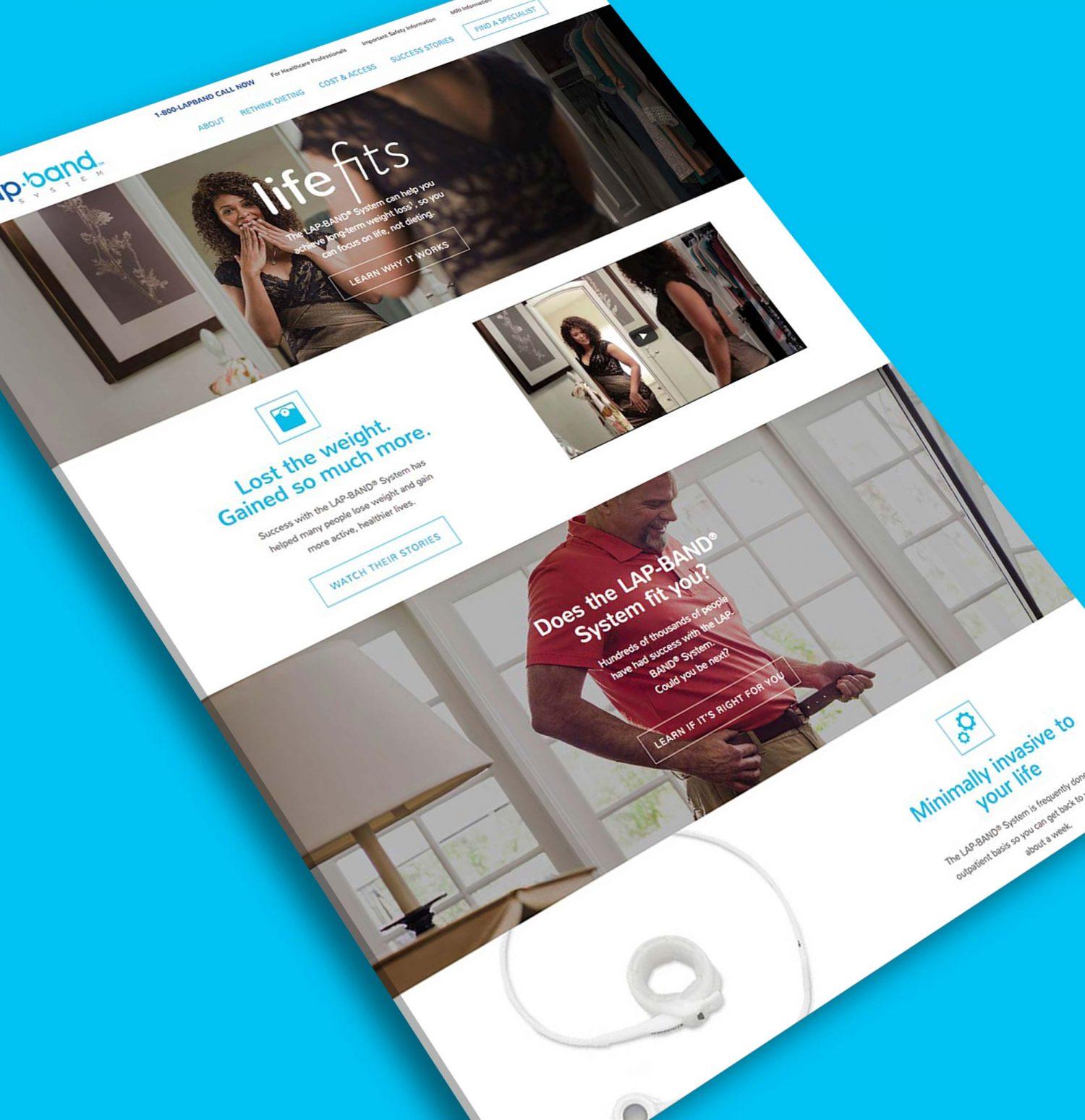 Lapband - Product Website