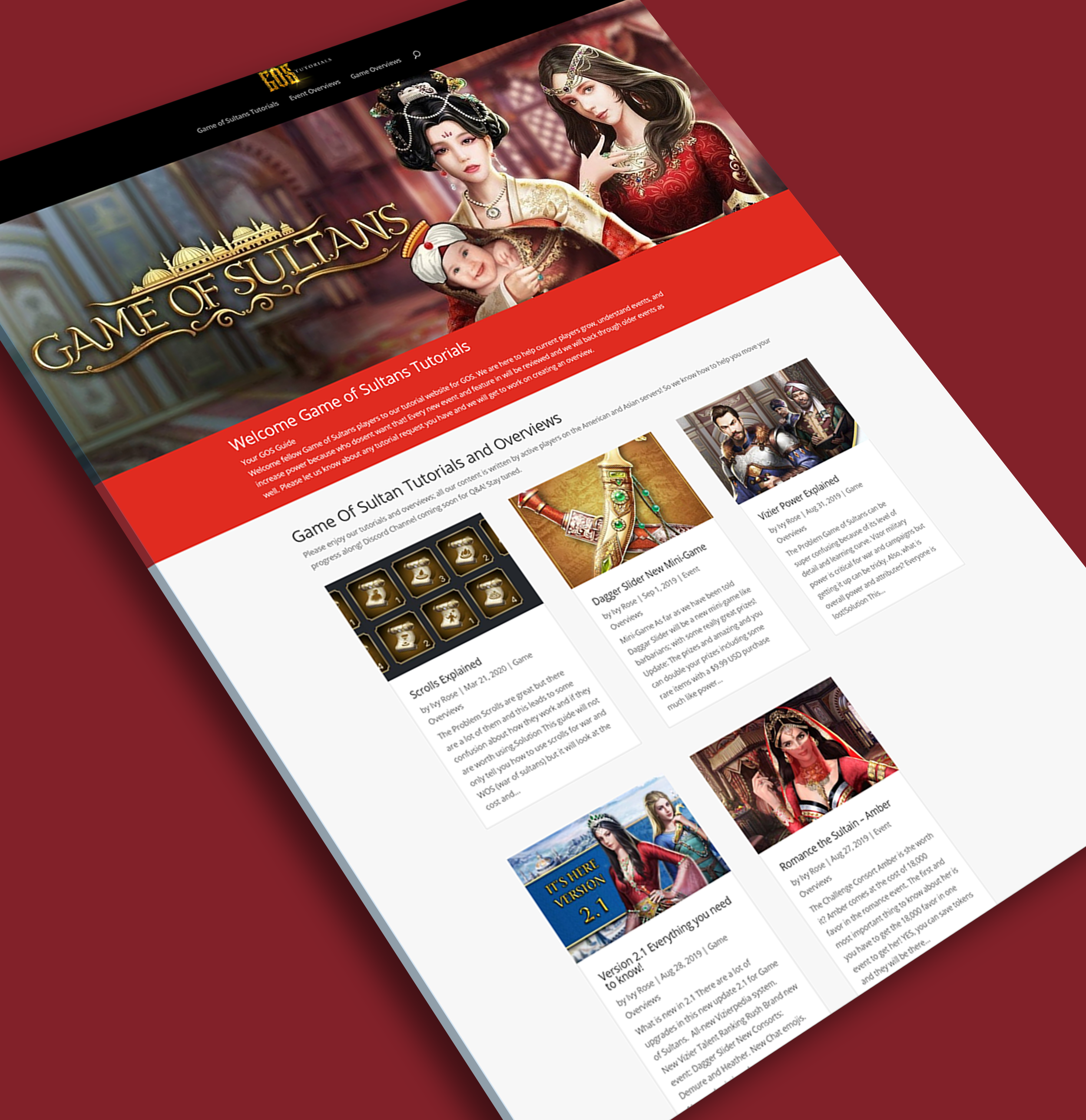 Game of Sultans - App Website