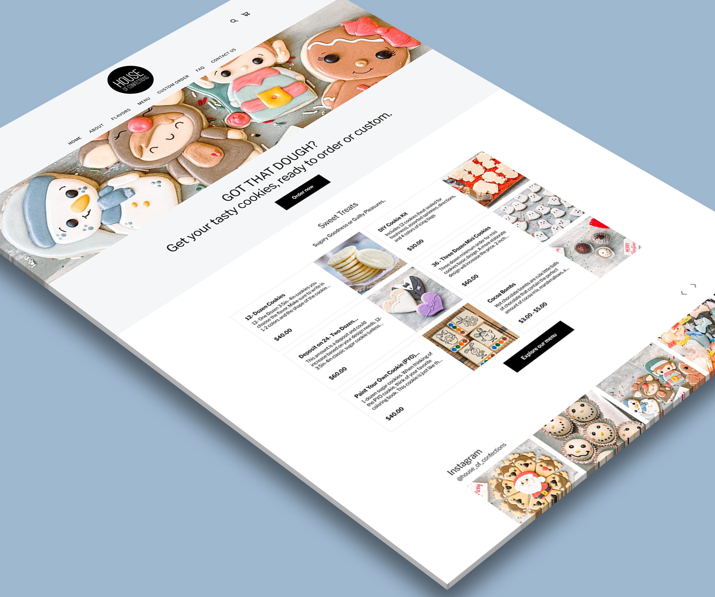 House of Confections - Ecommerce Website